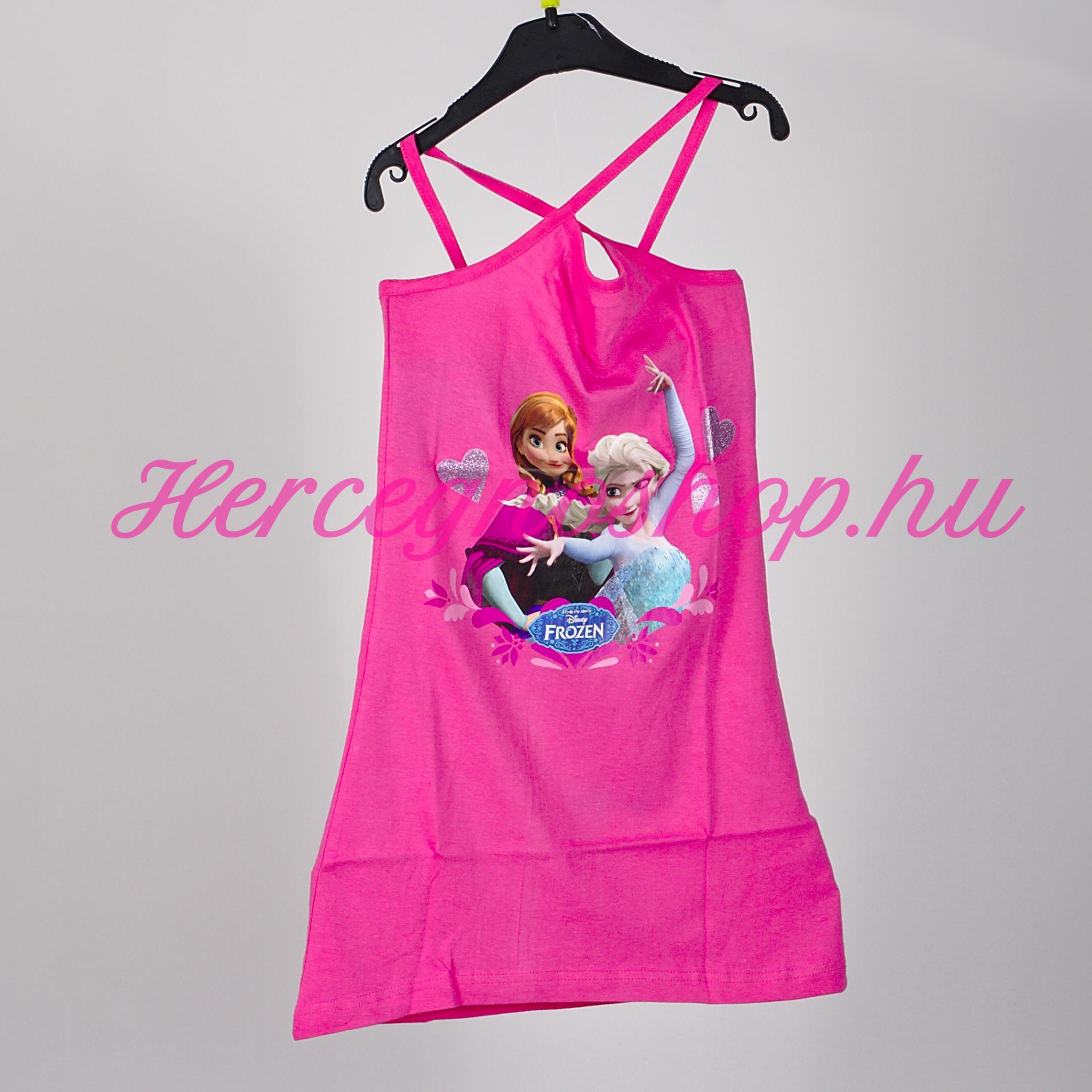 Jégvarázs strandruha – sötét rózsaszín (Disney Frozen)