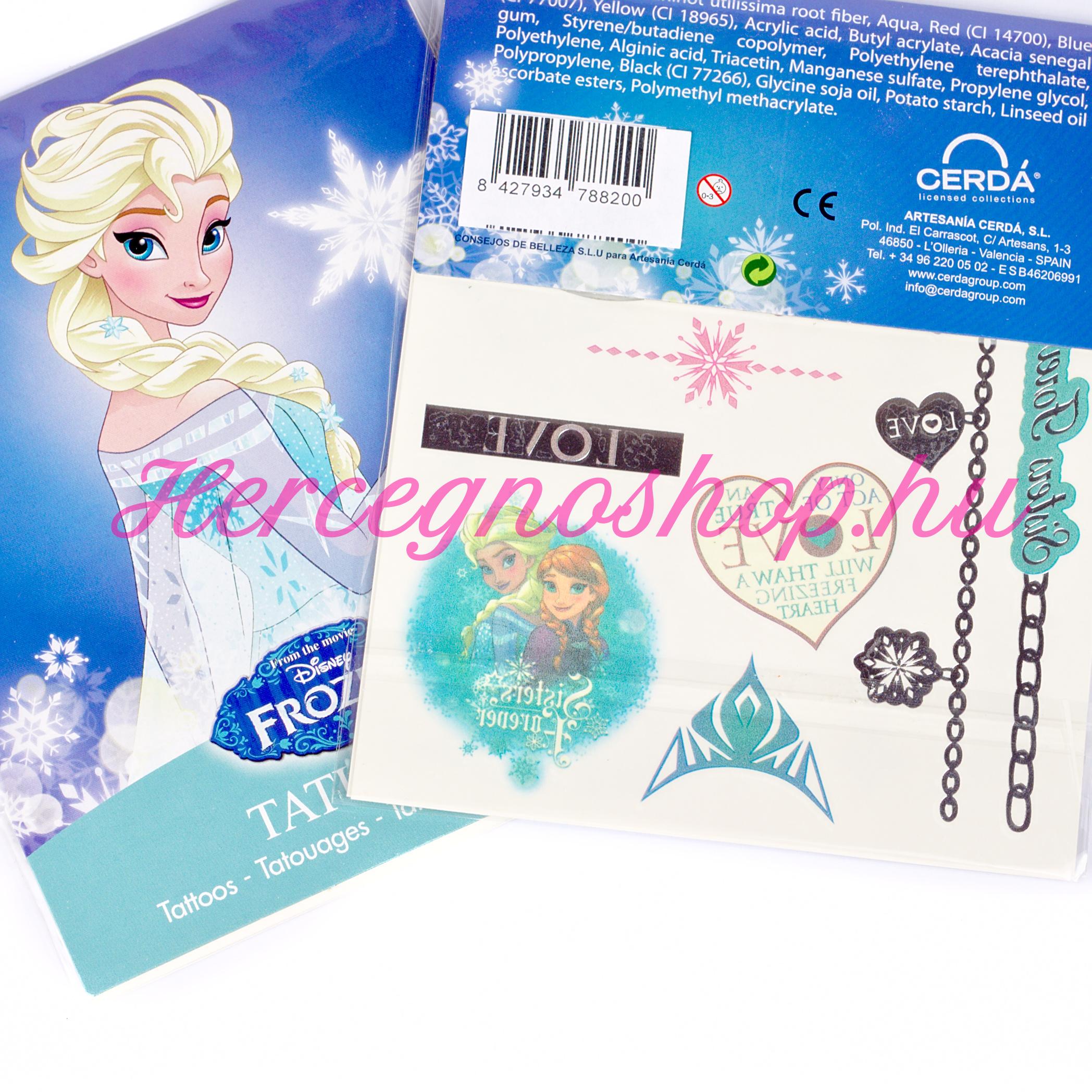 Jégvarázs tetoválás (Disney Frozen)