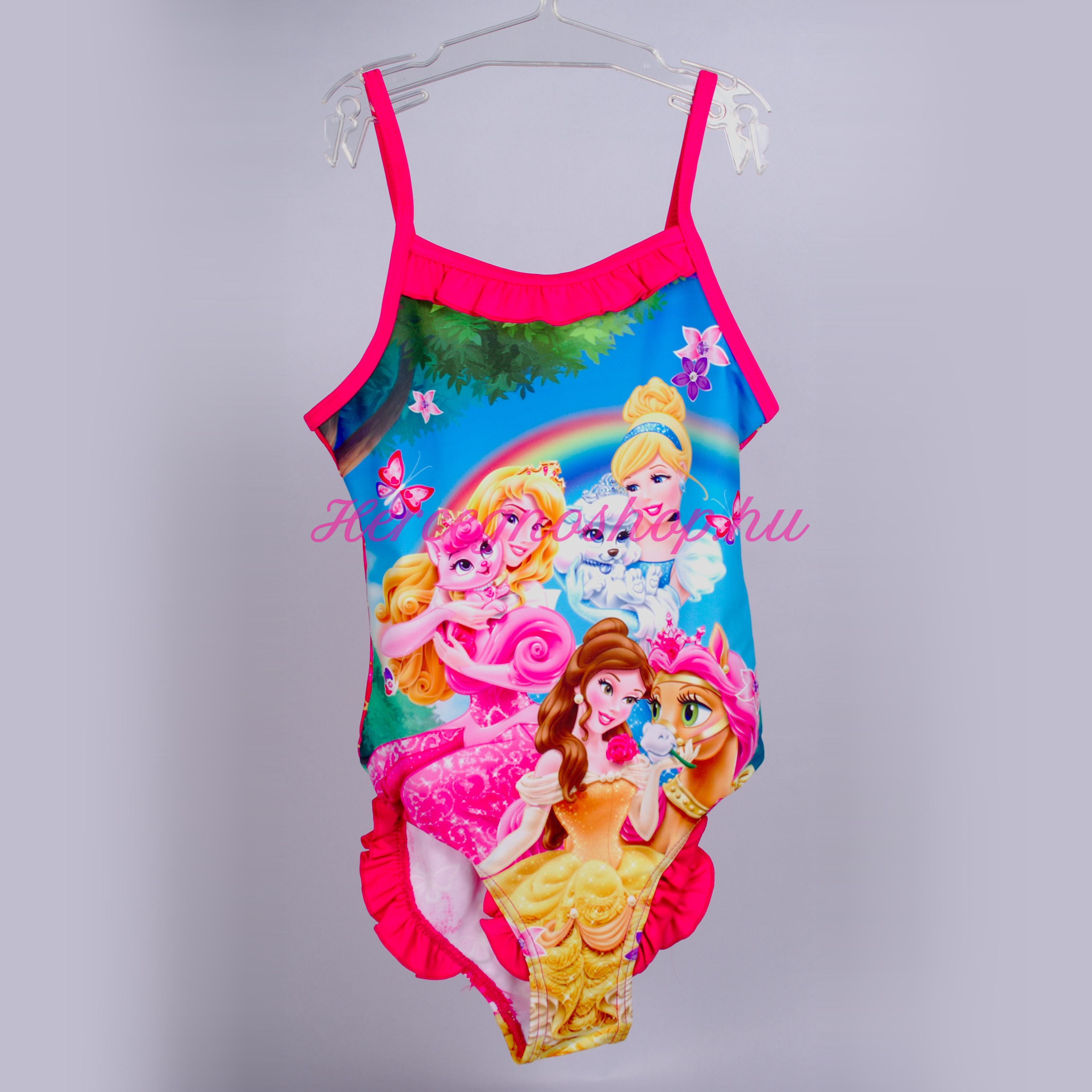 Disney hercegnők fürdőruha – sötét rózsaszín (Disney Princess)