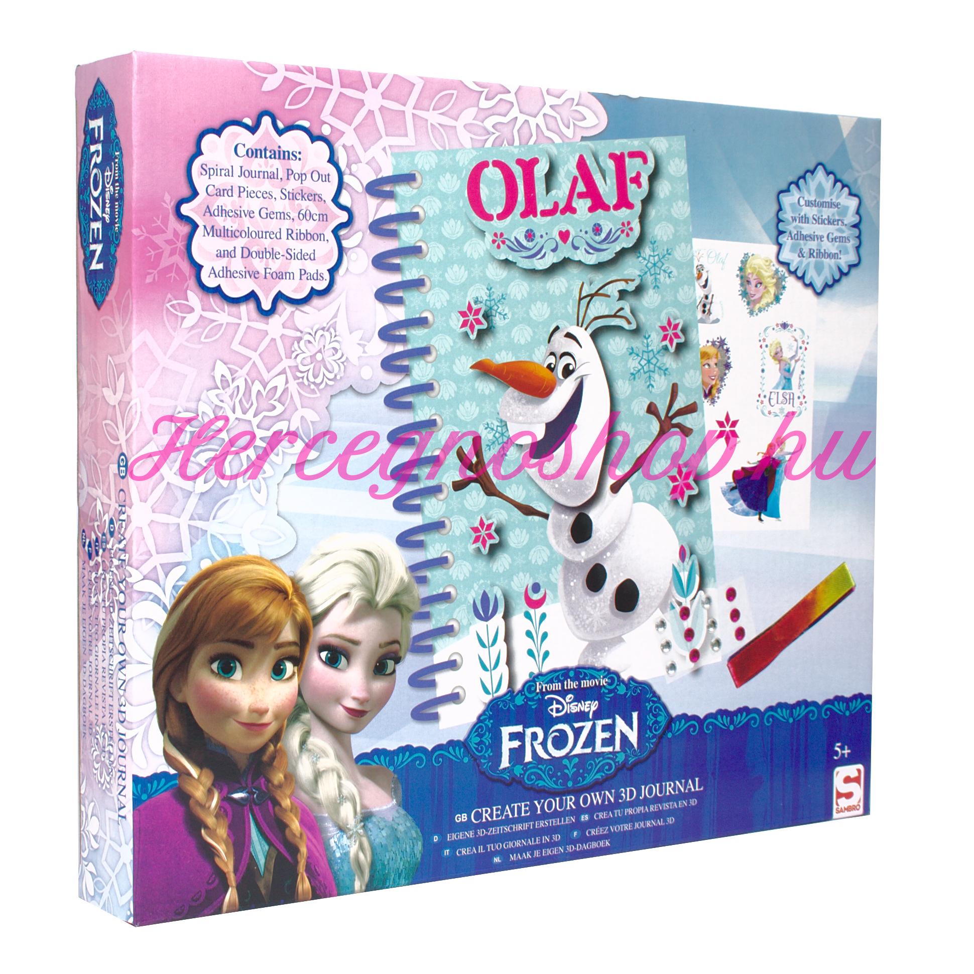 Jégvarázs mini spirálfüzet díszítő készlet (Disney Frozen)
