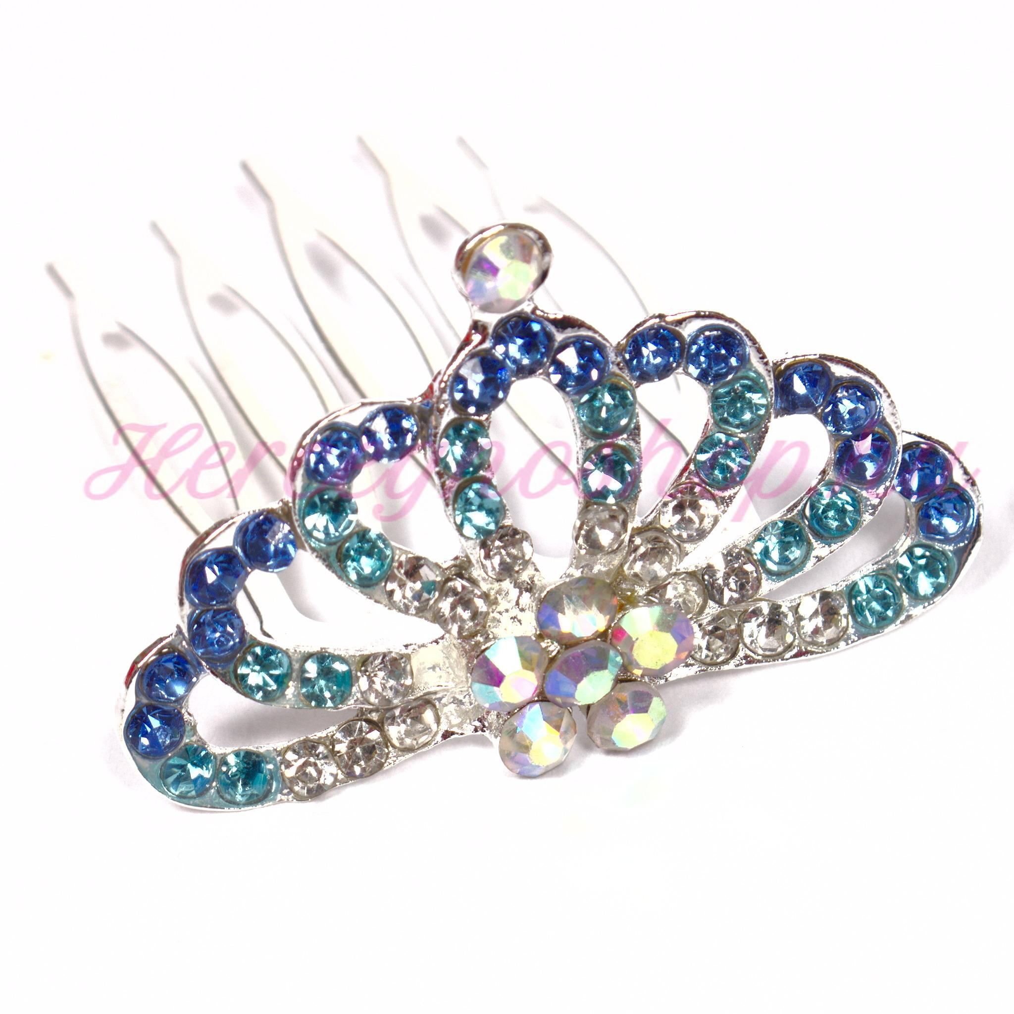 Strasszköves mini tiara