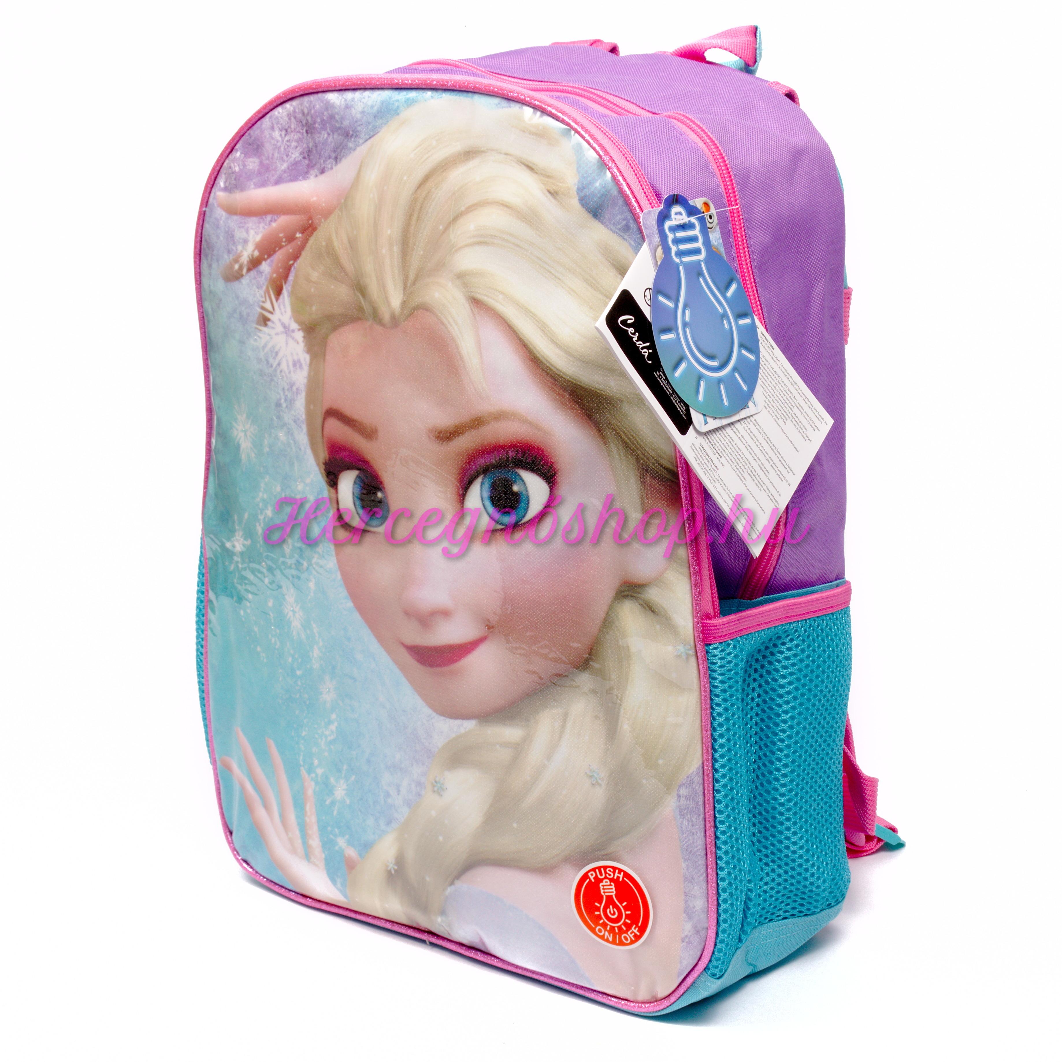Jégvarázs villogó hátizsák (Disney Frozen)
