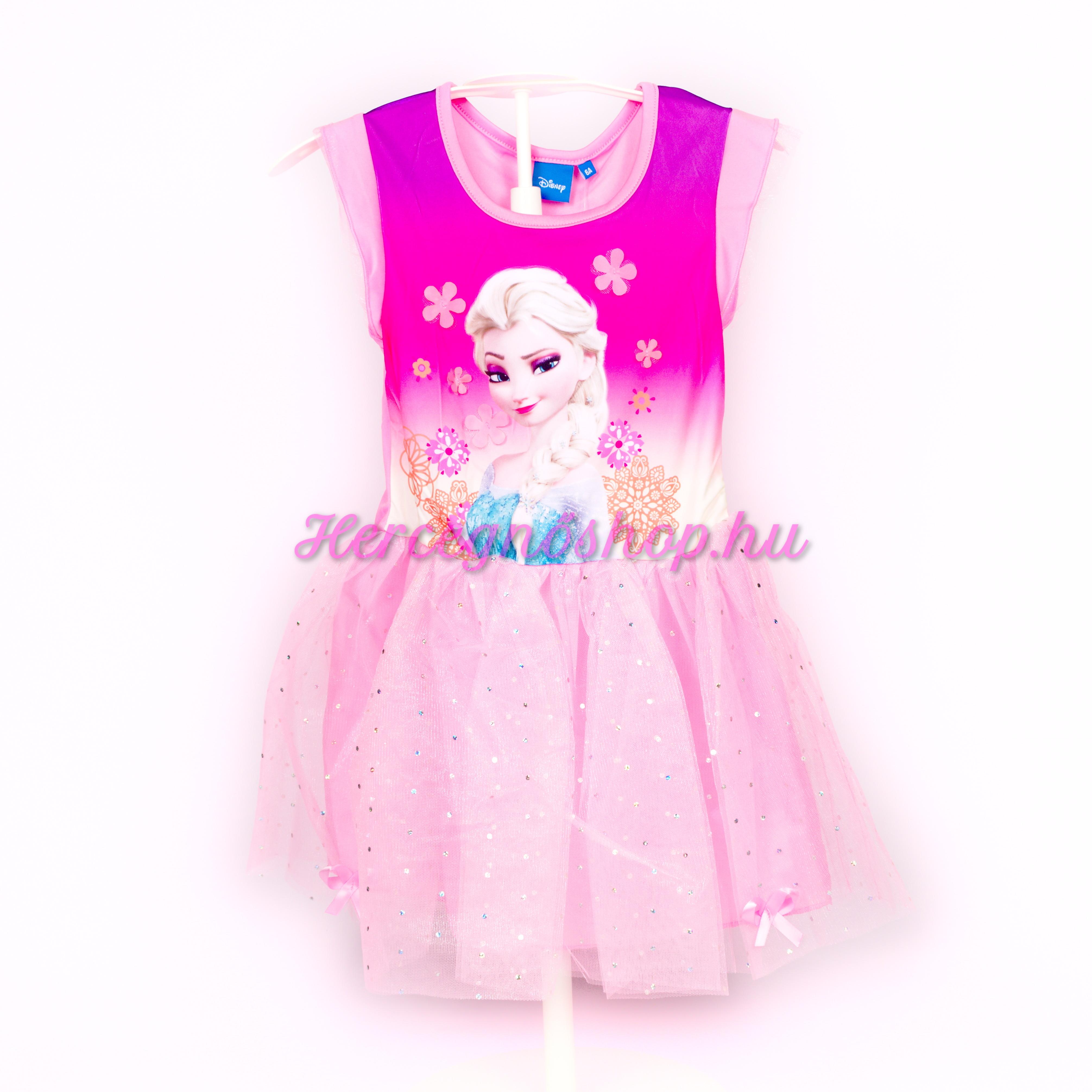 Jégvarázs party ruha – világos rózsaszín (Disney Frozen)