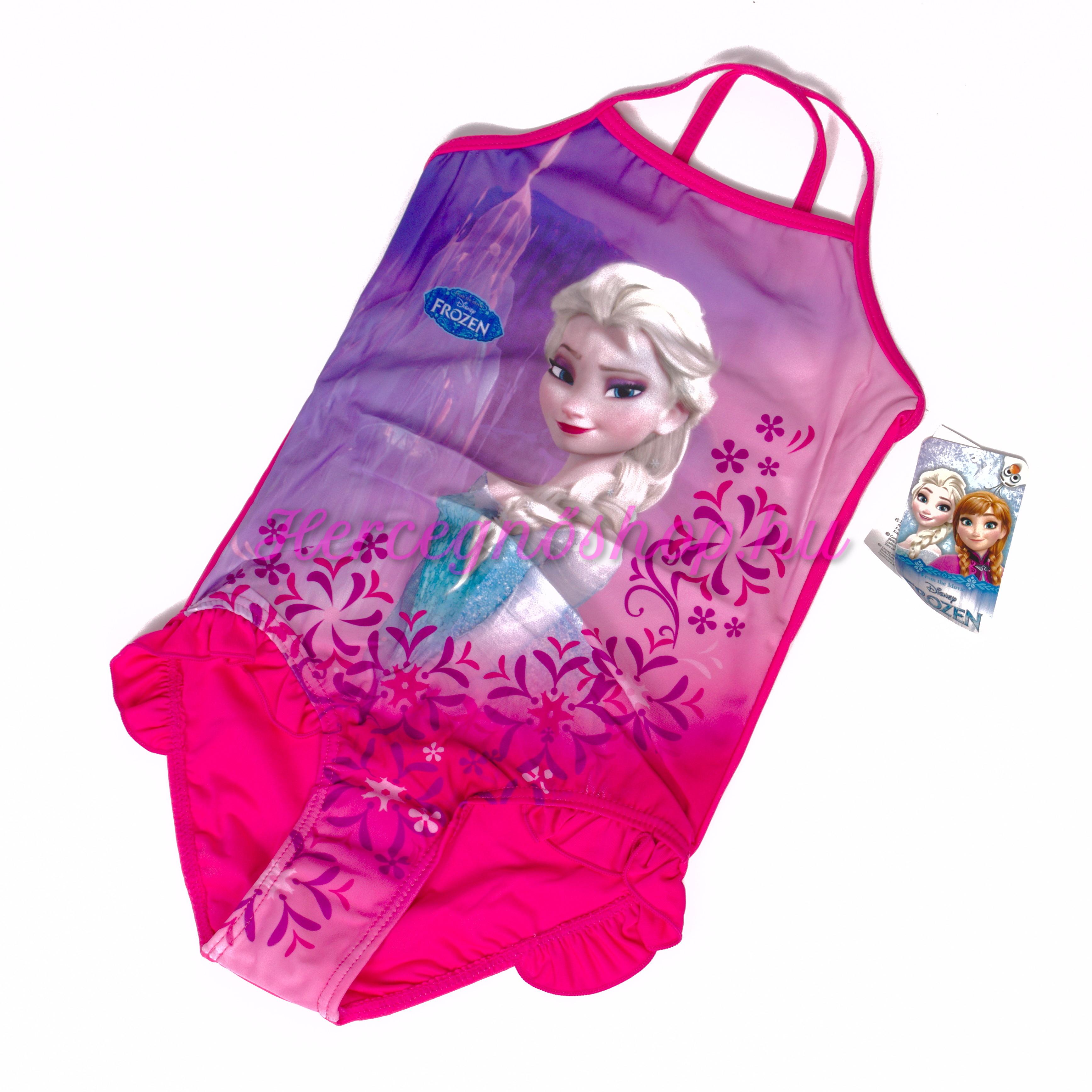 Jégvarázs fürdőruha – sötét rózsaszín (Disney Frozen)