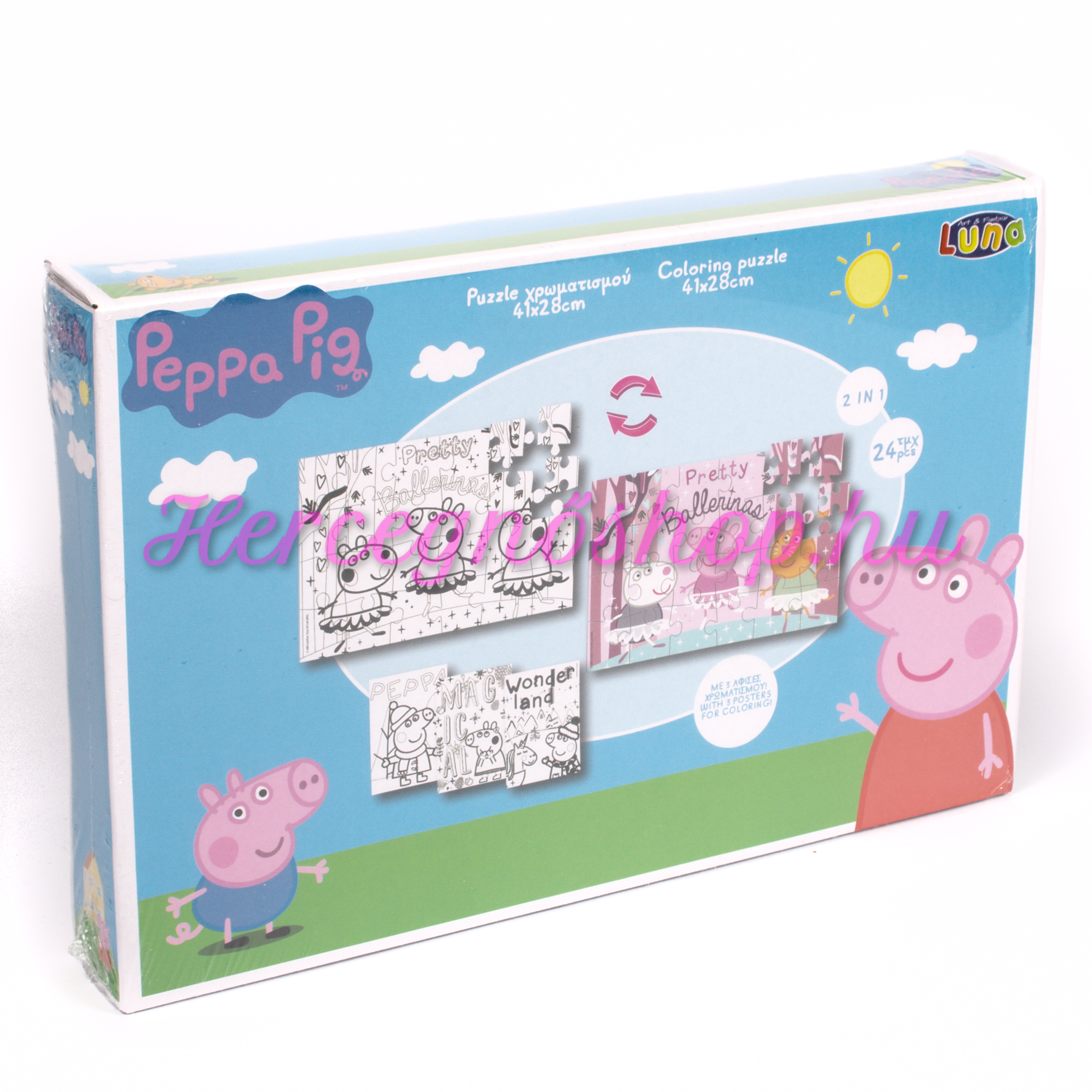 Peppa malac színezhető kirakó (Peppa Pig)