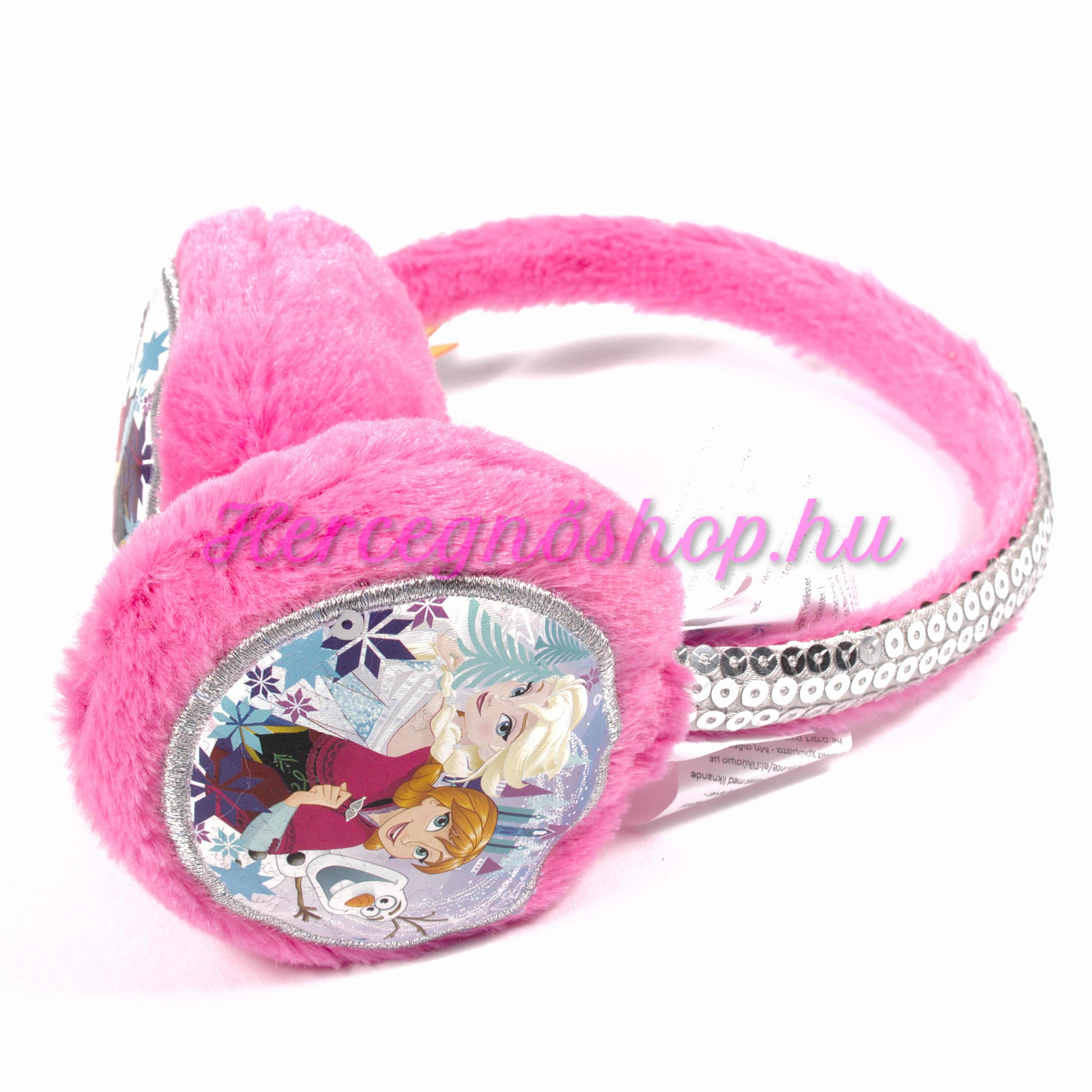 Jégvarázs rózsaszín fülvédő (Disney Frozen)