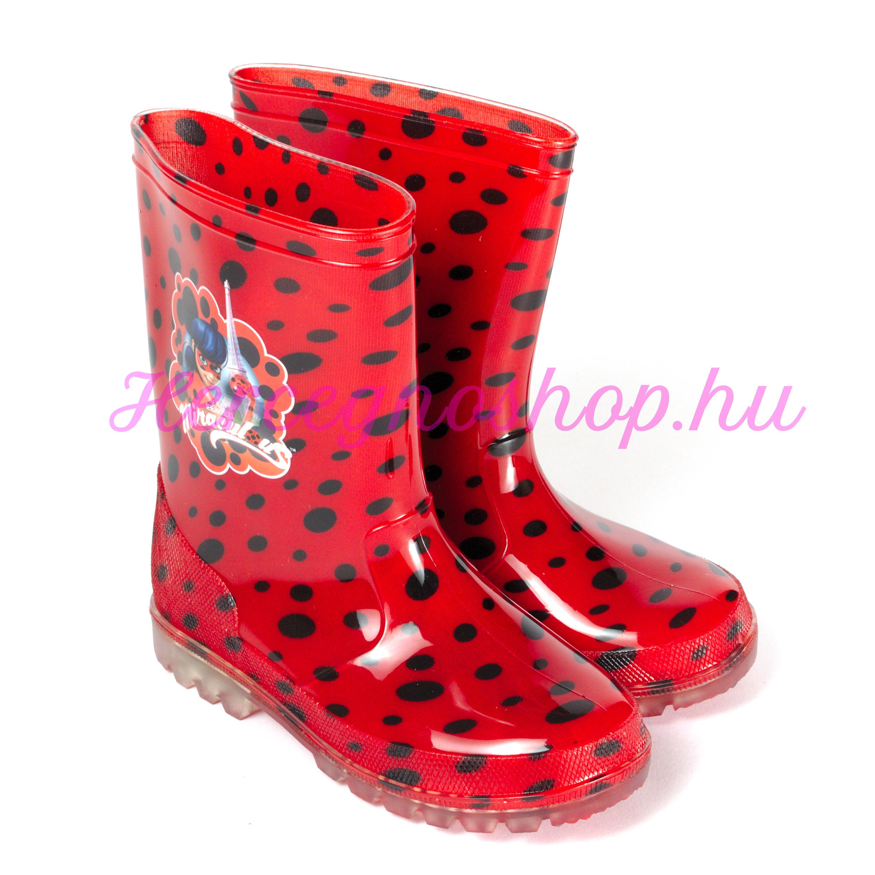 fdf0d819c6 Katica villogó talpú gumicsizma (Miraculous Ladybug) – Hercegnőshop